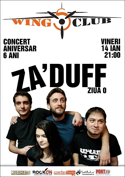 Concert aniversar Za'Duff 6 ani - ZIUA 0 in Wings Club