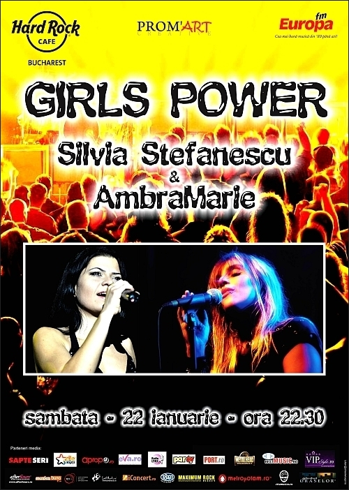 Girls Power in Hard Rock Cafe - concert AmbraMarie si Silvia Stefanescu