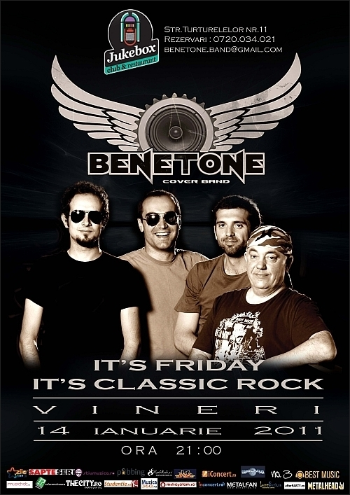 It's Friday It's Classic Rock cu BENETONE Band in club Jukebox