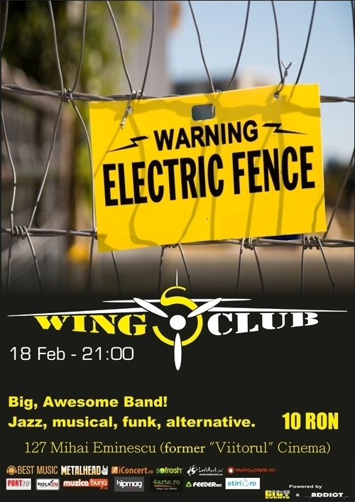 Concert Electric Fence in Wings Club
