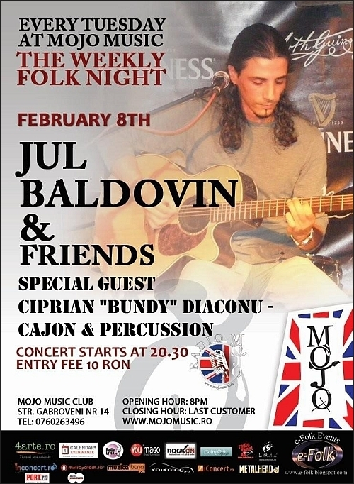 Concert Jul Baldovin si Ciprian Bundy Diaconu in club MoJo BritRoom