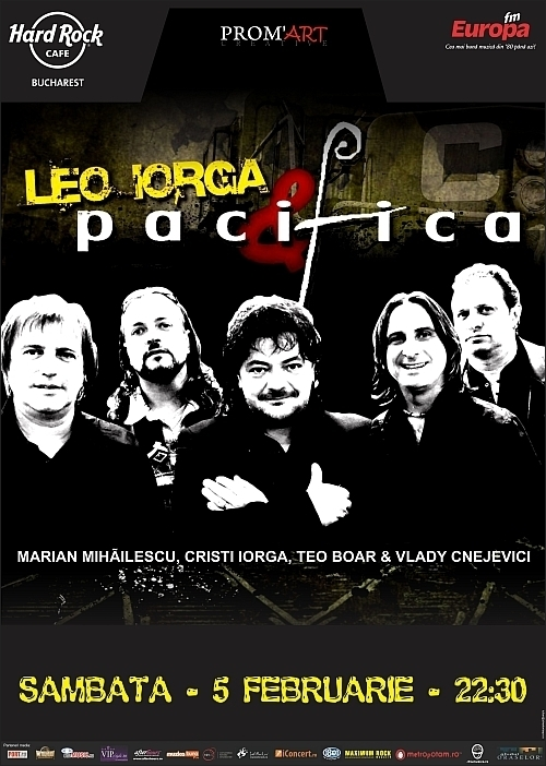 Concert Leo Iorga si Pacifica in Hard Rock Cafe