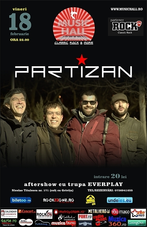 Concert Partizan in Music Hall