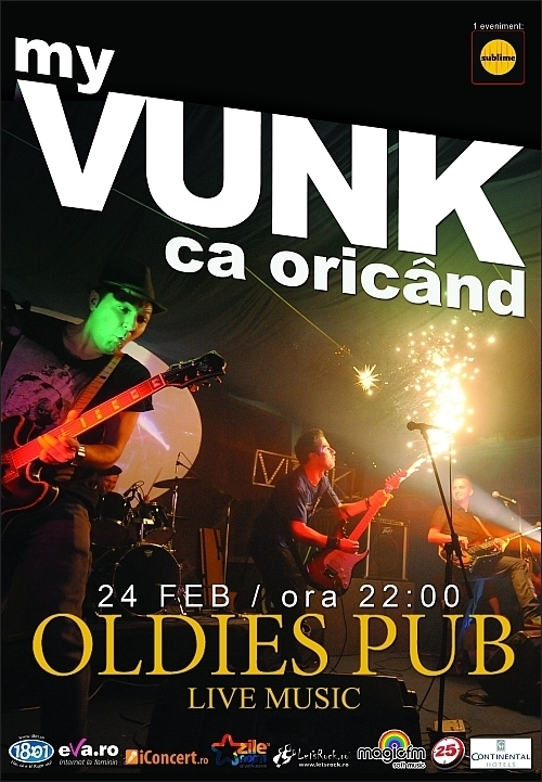 Concert Vunk in Oldies Pub din Sibiu