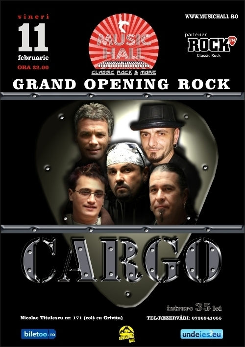 Grand opening MUSIC HALL cu un concert Cargo