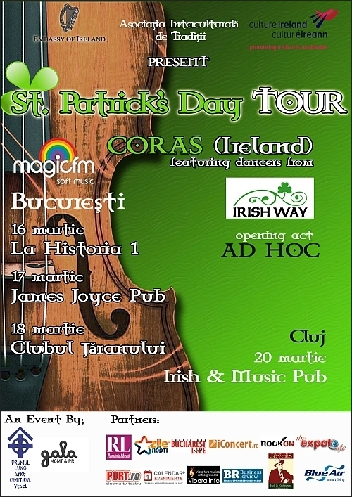 Ad Hoc, Irish Way si Coras in St. Patrick's Day Tour