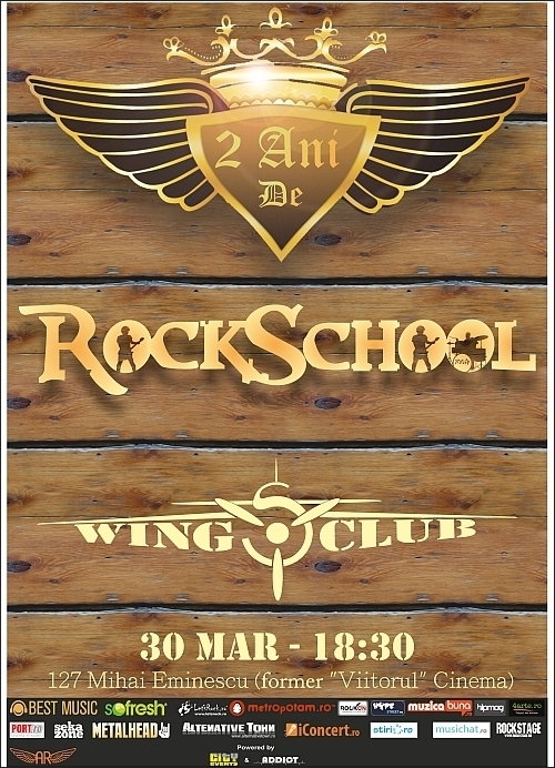 Aniversare 2 ani Rock School in Wings Club