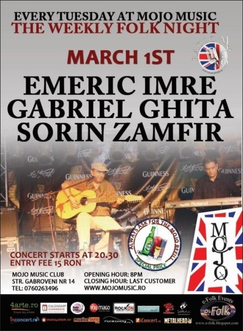 Concert Emeric Imre si invitatii sai in Mojo Brit Room
