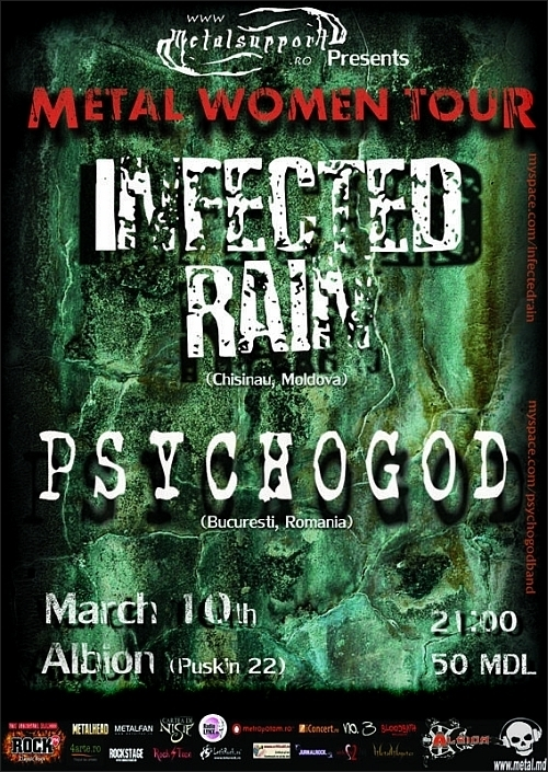 Concert Infected Rain si Psychogod in club Albion