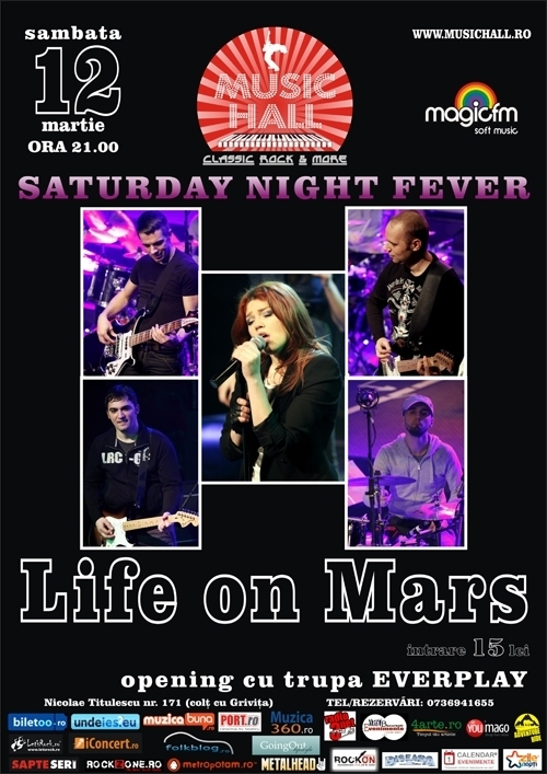 Concert Life on Mars in Music Hall