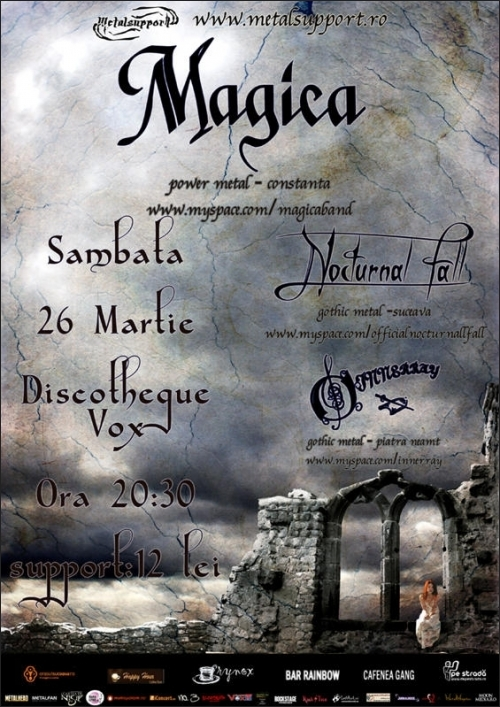 Concert Magica, Nocturnal Fear si Innerray in Suceava