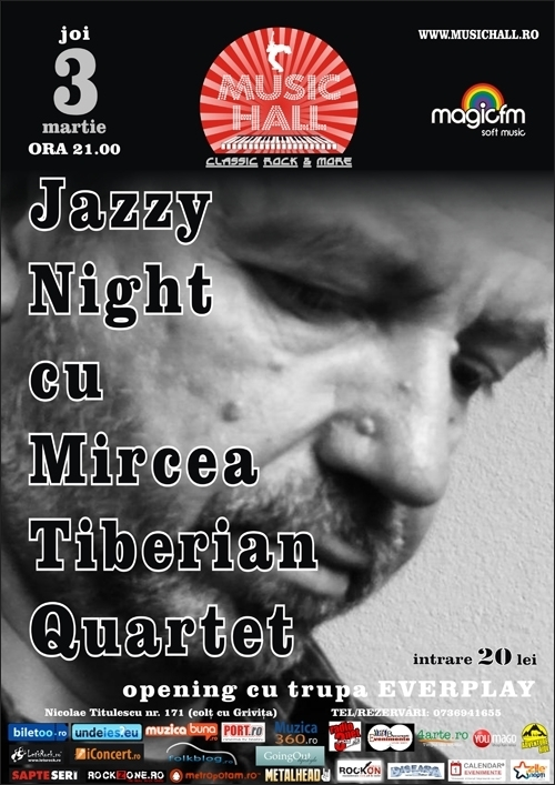Concert Mircea Tiberian Quartet Jazzy Night in Music Hall