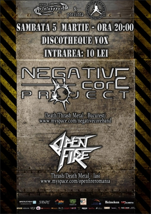 Concert Negative Core Project si Open Fire in Suceava