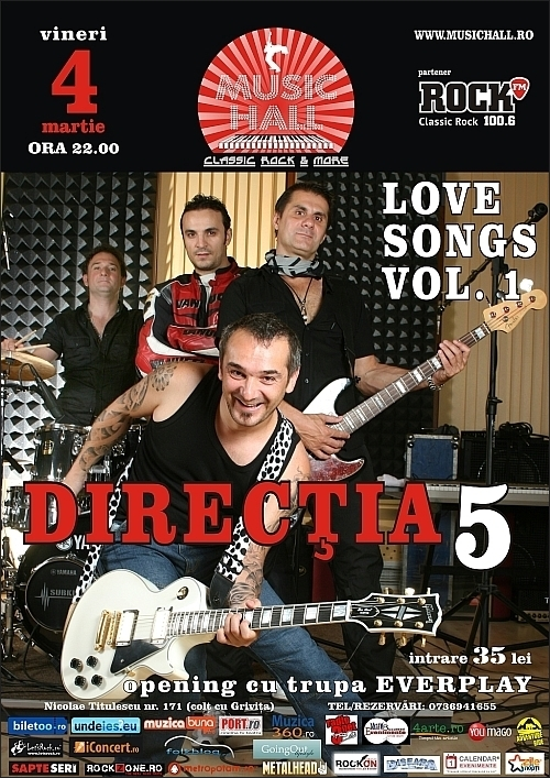 Love Songs, Vol. I cu Directia 5 in Music Hall