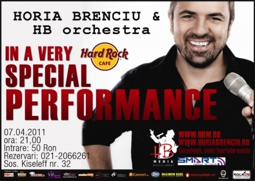 Concert HORIA BRENCIU & HB ORCHESTRA in Hard Rock Cafe