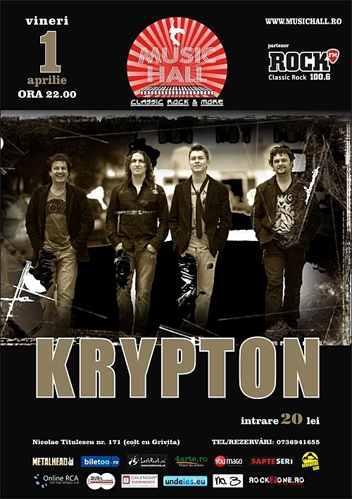 Concert KRYPTON in Music Hall