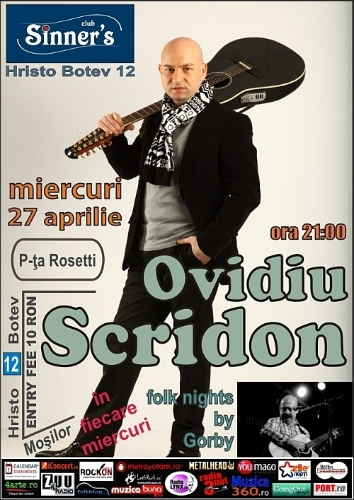 Concert Ovidiu Scridon in Sinner's Club