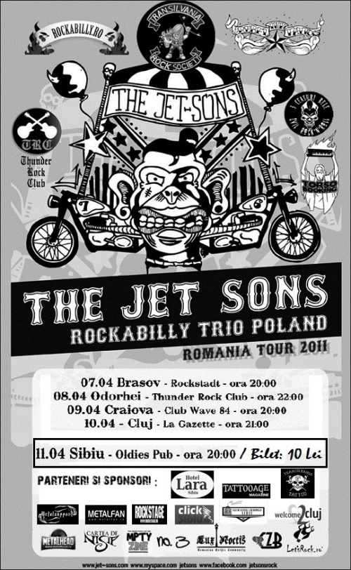 Concert The Jet-Sons in Oldies Pub Sibiu