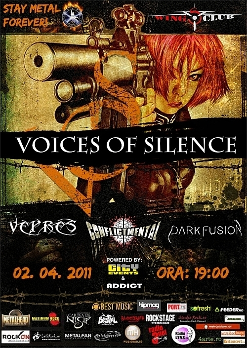 Concert Voices of Silence, Vepres, Conflict Mental si Dark Fusion in Wings Club
