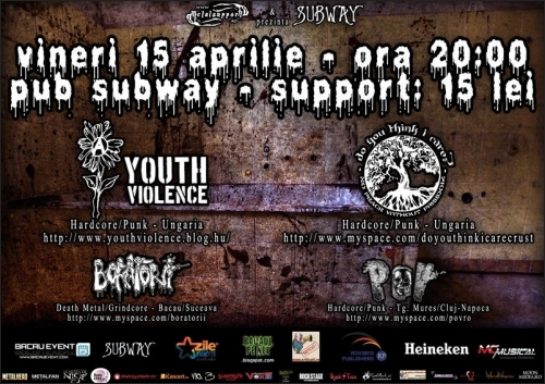 Concert Youth Violence, Do you think I care, Boratorii si POV in Bacau