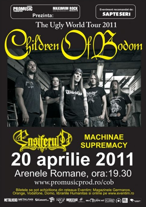 O zi pana la concertul Children Of Bodom - Ensiferum in Romania