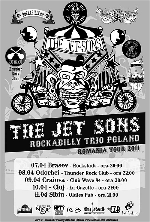 Turneul national The Jet-Sons Rockabilly Trio 2011 din Polonia