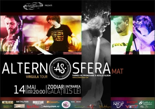 Concert Alternosfera in Zodiar Club din Galati
