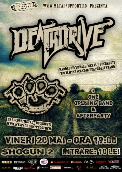 Concert DEATHDRIVE si PROOF in Shogun 2 Botosani