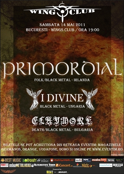 Concert Primordial, I Divine si Claymore in Club Wings