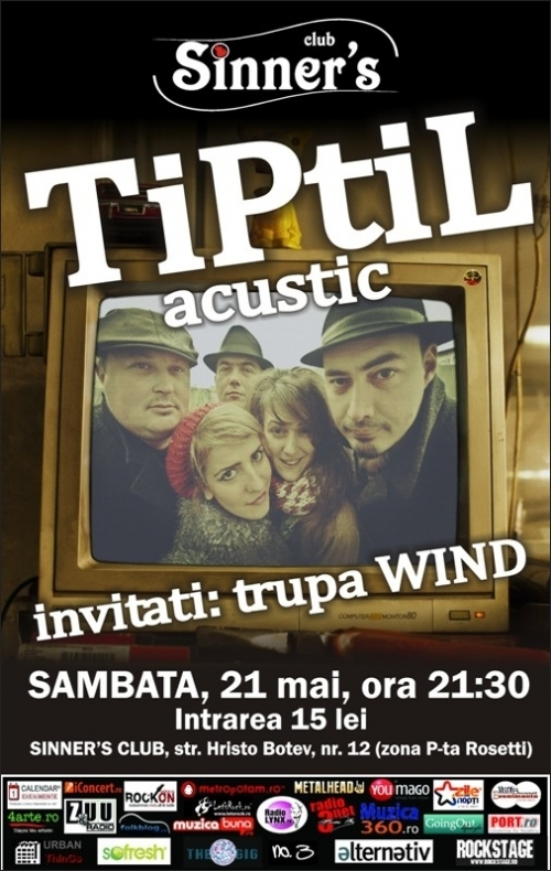 Concert TiPtiL si Wind in Club Sinner's