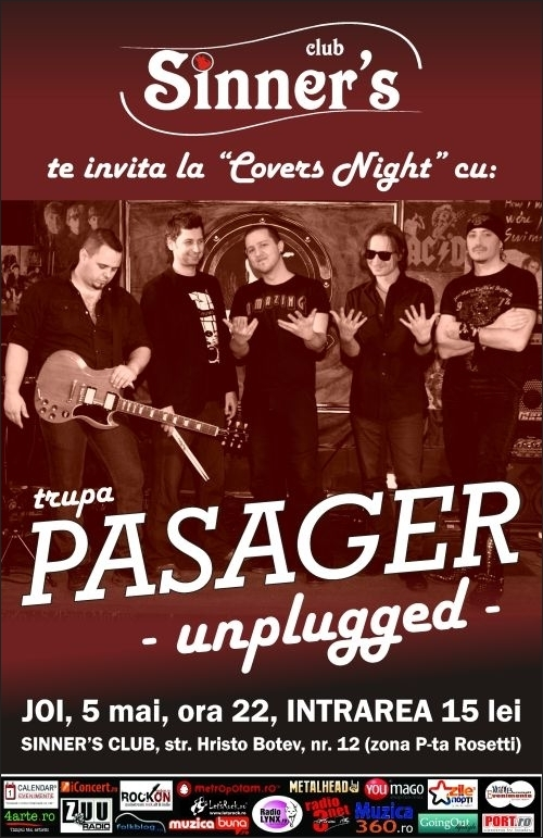 Covers Night cu Pasager in Sinner's Club