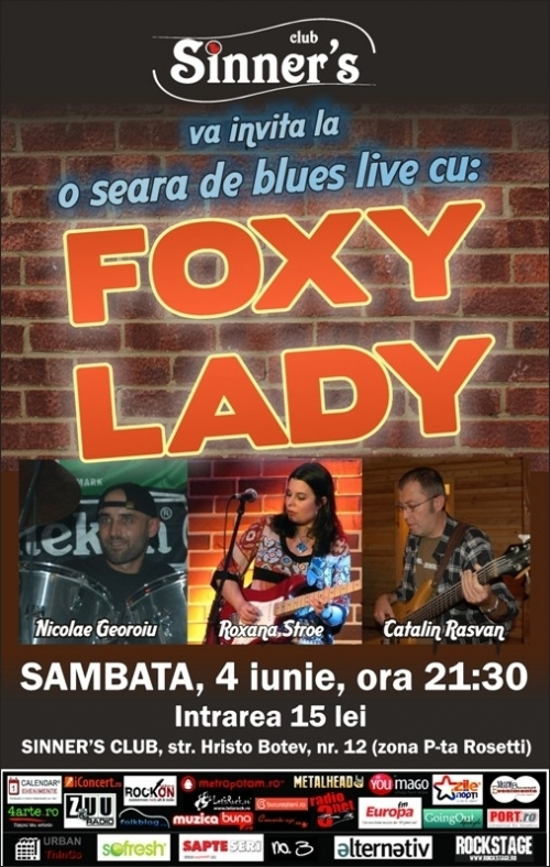 Concert Foxy Lady in Club Sinner's