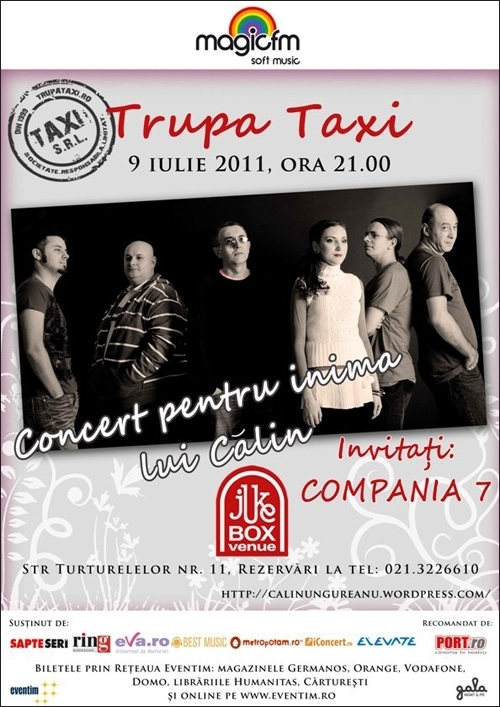 Concert caritabil Taxi in Jukebox Venue
