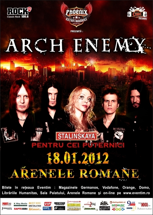 Pana pe 1 septembrie, bilete ieftine la Arch Enemy