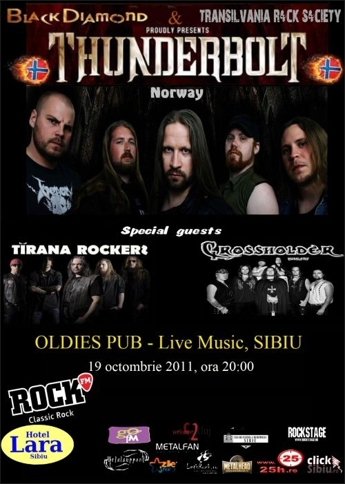 Concert Thunderbolt in Oldies PUB din Sibiu