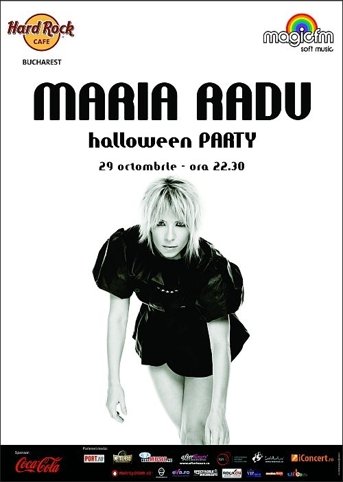 Halloween Party cu Maria Radu in Hard Rock Cafe din Bucuresti