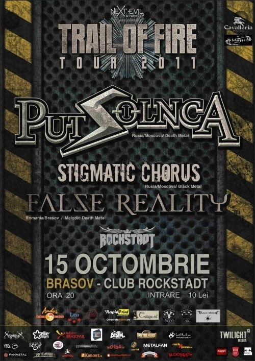 Put Solnca, Stigmatic Chorus si False Reality in Rockstadt la Trail Of Fire Tour 2011