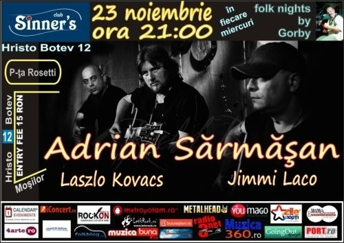 Concert Adrian Sarmasan & friends la Folk Nights by Gorby editia 37