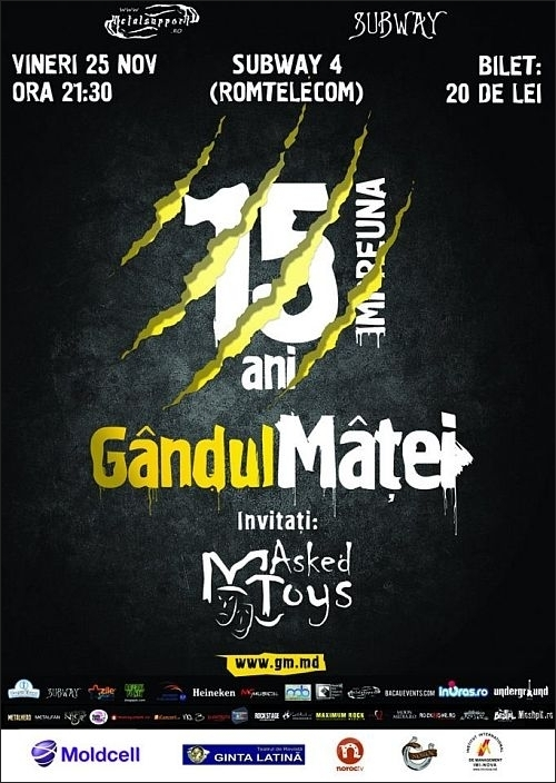 Concert Gandul Matei si Masked Toys in Subway 4 Romtelecom din Bacau