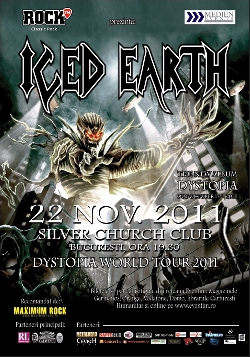 Concert ICED EARTH in Silver Church Club