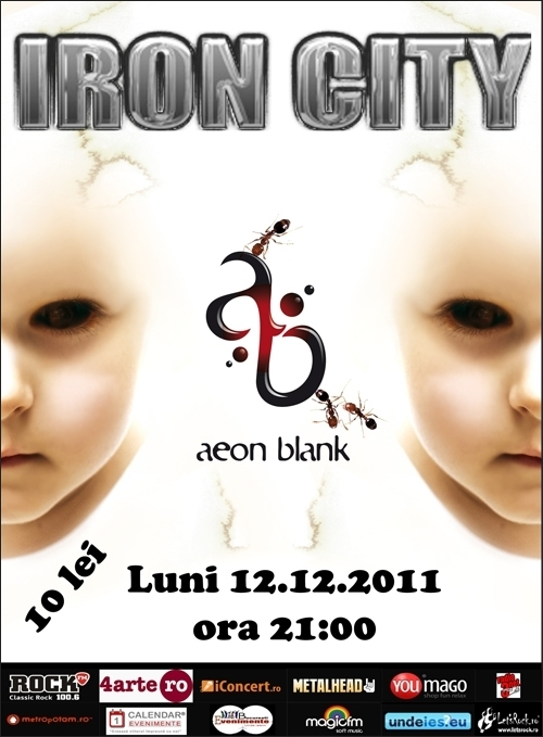 Concert Aeon Blank in Iron City din Bucuresti