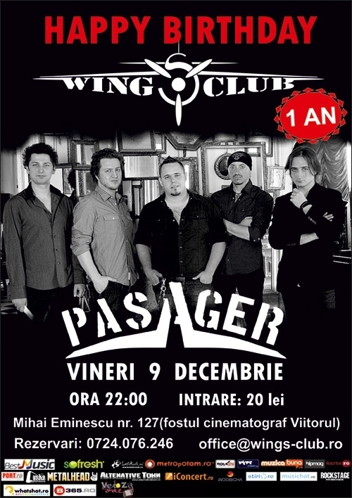 Concert Aniversar Wings Club - Day 1 cu trupa Pasager