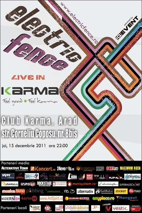Concert Electric Fence in club Karma din Arad