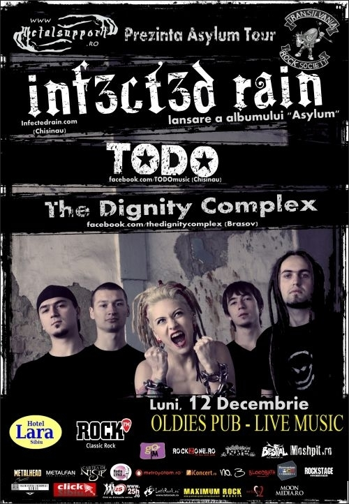Concert Infected Rain, Todo si The Dignity Complex in Oldies Pub Live Music din Sibiu