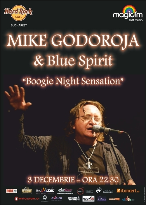 Concert Mike Godoroja si Blue Spirit in Hard Rock Cafe