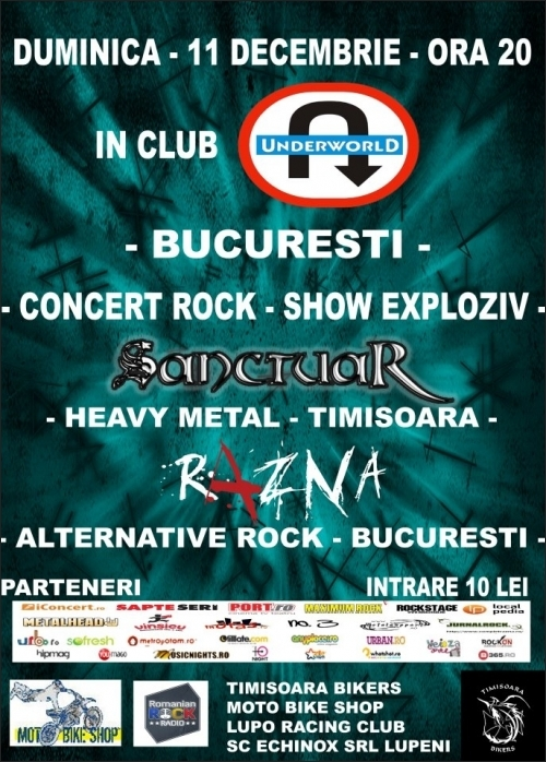 Concert Sanctuar si Razna in Club Underworld