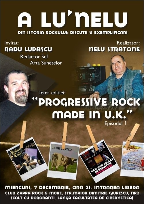Radu Lupascu invitat la Progressive Rock Made In U.K. in Club Zappa Rock & More