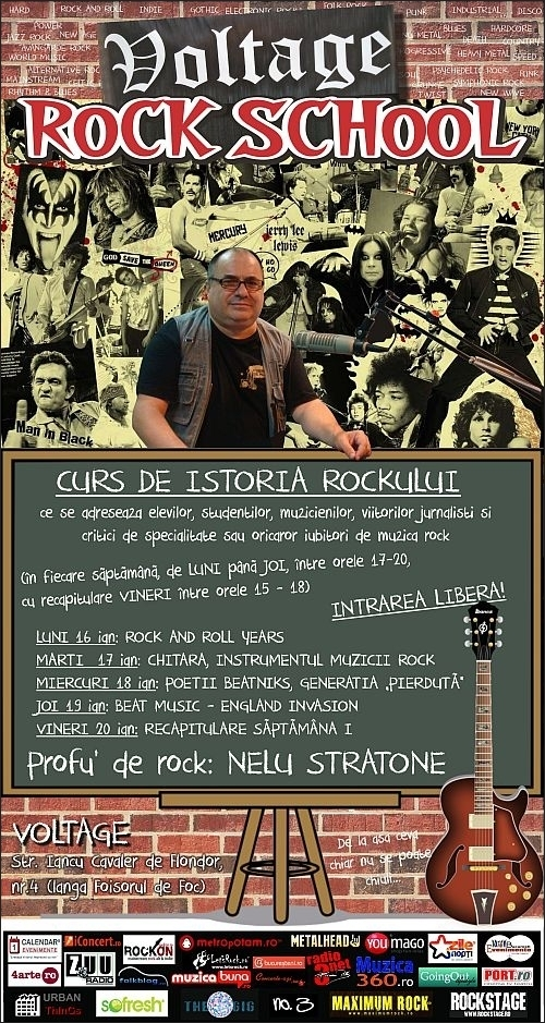 Curs de Istoria Rockului VOLTAGE ROCK SCHOOL in Voltage Bar