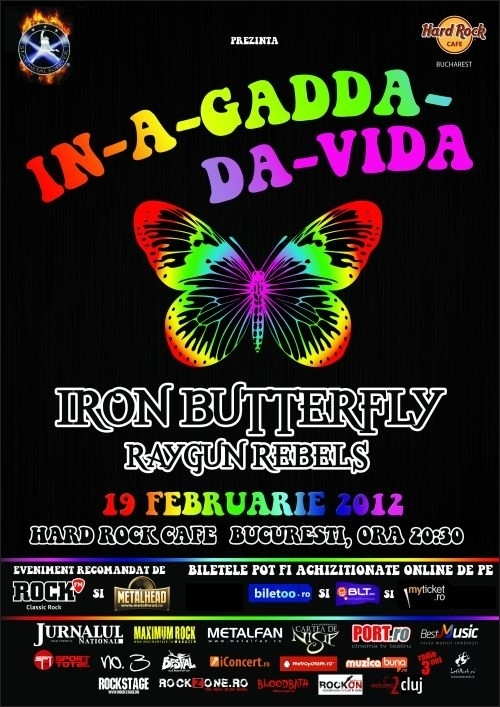Iron Butterfly concerteaza in Romania pe data de 19 februarie 2012 in Hard Rock Cafe