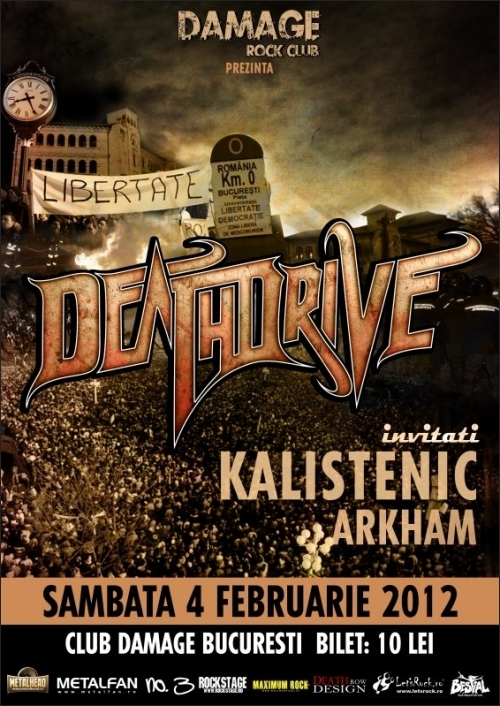 Concert Deathdrive, Kalistenic, Arkham in Damage Club